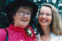Carla with her favorite storyteller and mother, Elnora, on Carla's wedding day