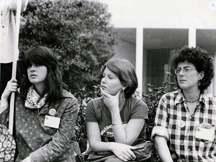 Carla, middle, First National Women's Conference, Houston, Texas, 1977